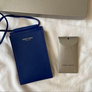 Giorgio Armani Cobalt Phone Case Bag
